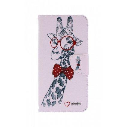 Flipové puzdro na Samsung J6 + Žirafa