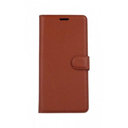 Flipové puzdro na Samsung J6 + hnedé s prackou