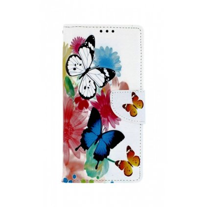 Flipové puzdro na Samsung J4 + Farebné s motýlikmi