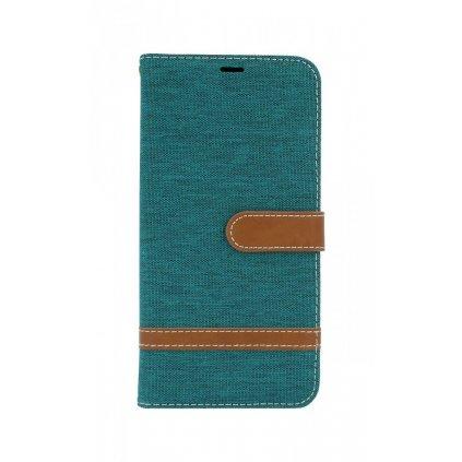 Flipové puzdro na Samsung J6 + džínsové modrozelené