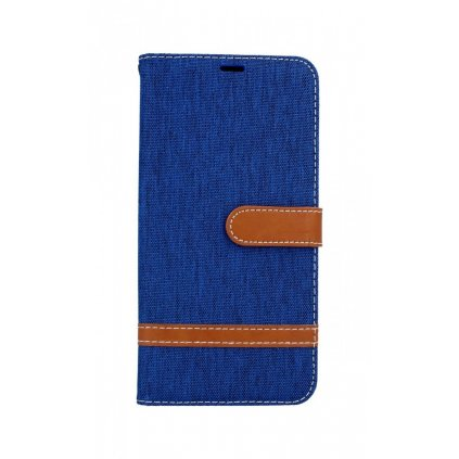 Flipové puzdro na Samsung J6 + džínsové modré