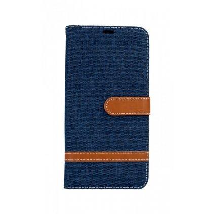 Flipové puzdro na Samsung J6 + džínsové modré tmavé