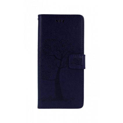 Flipové puzdro na Samsung J4 + tmavo fialový strom sovičky