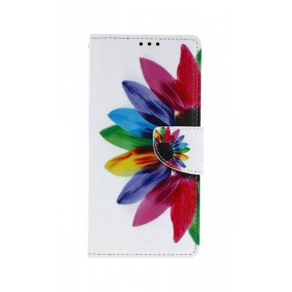 Flipové puzdro na Samsung J4 + Farebná kvetina