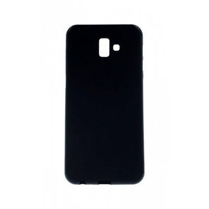 Zadný silikónový kryt na Samsung J6 + čierny matný