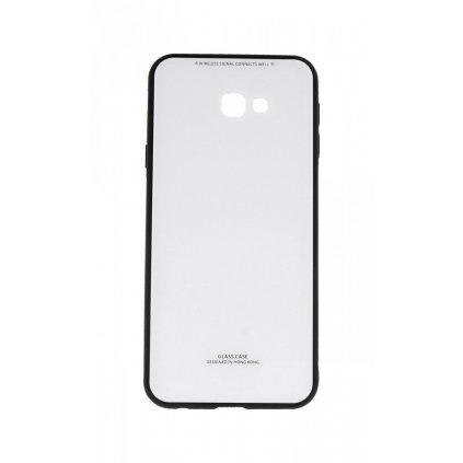 Zadný pevný kryt GLASS na Samsung J4 + biely