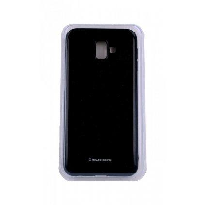 Zadný silikónový kryt Molan Cano Jelly na Samsung J6 + čierny