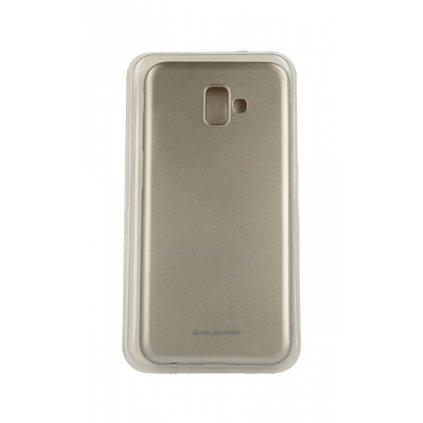 Zadný silikónový kryt Molan Cano Jelly na Samsung J6 + zlatý