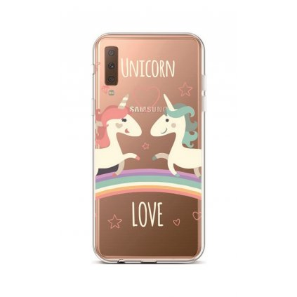 Zadný silikónový kryt na Samsung A7 Unicorn Love
