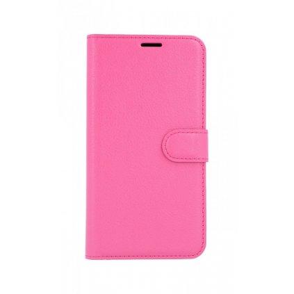Flipové puzdro na Samsung A7 ružové tmavé s prackou