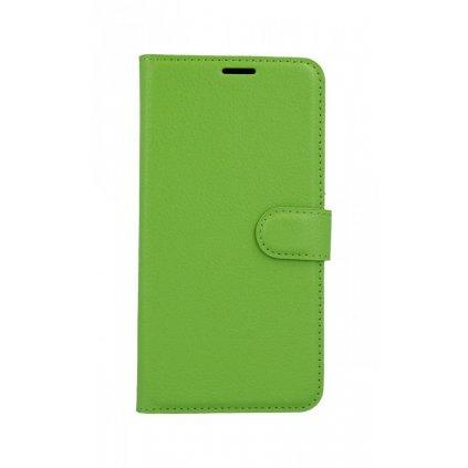 Flipové puzdro na Samsung A7 zelené s prackou