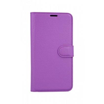 Flipové puzdro na Samsung A7 fialové s prackou