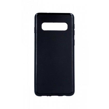 Zadný silikónový kryt na Samsung S10 čierny matný