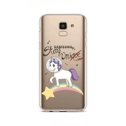 Zadný silikónový kryt na Samsung J6 Stay Unicorn