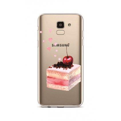 Zadný silikónový kryt na Samsung J6 Cherry Cake