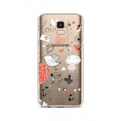 Zadný silikónový kryt na Samsung J6 Funny