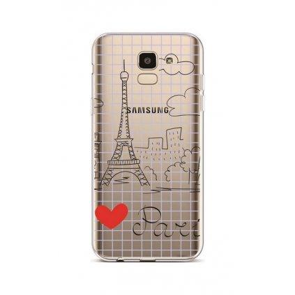 Zadný silikónový kryt na Samsung J6 Paris