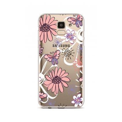 Zadný silikónový kryt na Samsung J6 Flowers