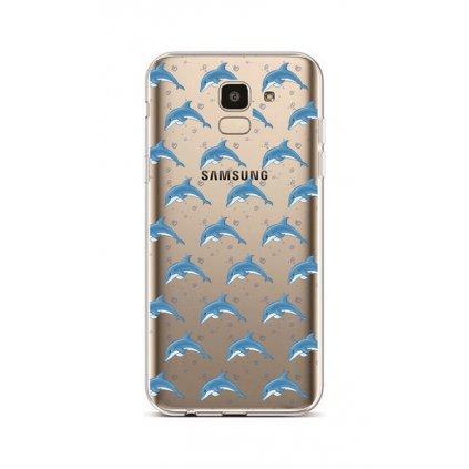 Zadný silikónový kryt na Samsung J6 Dolphins
