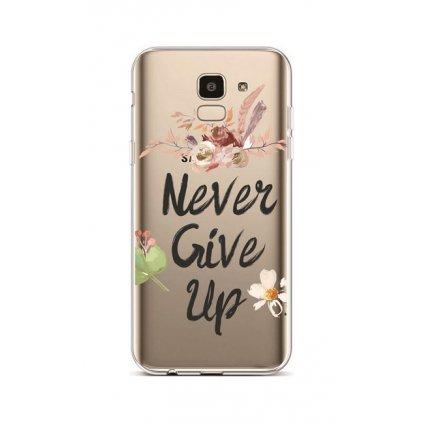 Zadný silikónový kryt na Samsung J6 Never Give Up