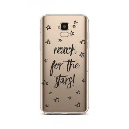 Zadný silikónový kryt na Samsung J6 Reach For The Stars