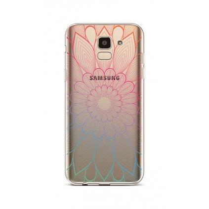 Zadný silikónový kryt na Samsung J6 Mandala dúhová