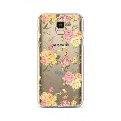 Zadný silikónový kryt na Samsung J6 Yellow Roses