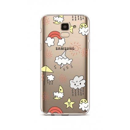 Zadný silikónový kryt na Samsung J6 Rainy Day