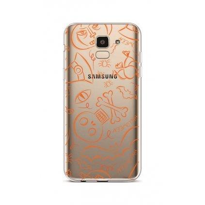 Zadný silikónový kryt na Samsung J6 Halloween