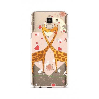 Zadný silikónový kryt na Samsung J6 Giraffes In Love