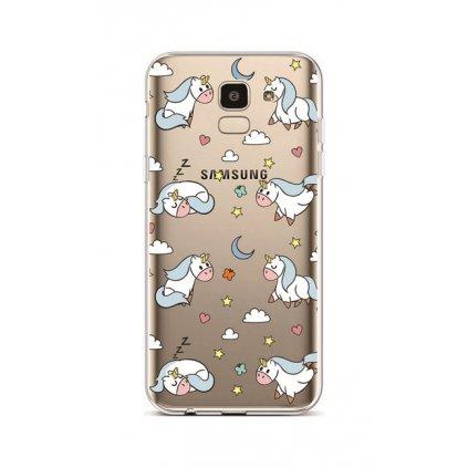 Zadný silikónový kryt na Samsung J6 White Unicorns