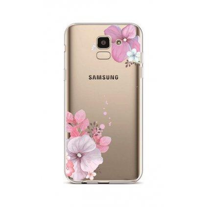 Zadný silikónový kryt na Samsung J6 Violet Blossom