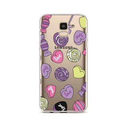 Zadný silikónový kryt na Samsung J6 Lovely Candy
