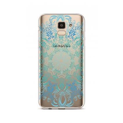 Zadný silikónový kryt na Samsung J6 Blue Mandala