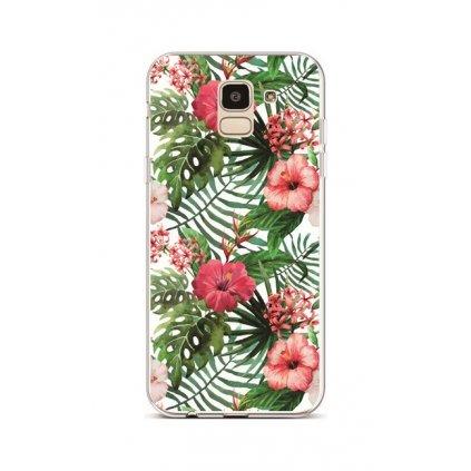 Zadný silikónový kryt na Samsung J6 Jungle Blossom