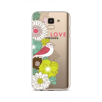 Zadný silikónový kryt na Samsung J6 Birdie Love