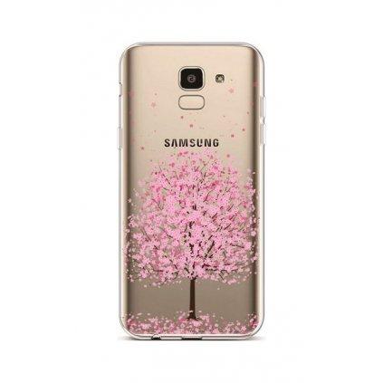Zadný silikónový kryt na Samsung J6 Blossom Tree Pink