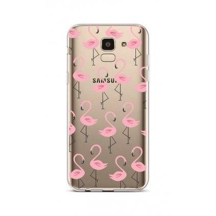 Zadný silikónový kryt na Samsung J6 Flamingos 2