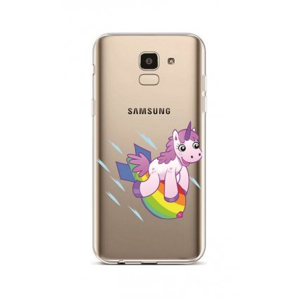 Zadný silikónový kryt na Samsung J6 Flying Unicorn