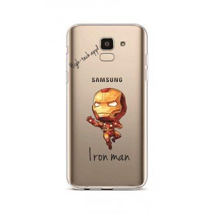 Zadný silikónový kryt na Samsung J6 Cartoon Iron Man