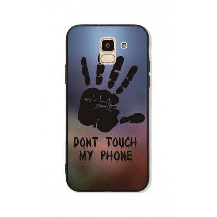 Zadný pevný kryt GLASS na Samsung J6 Dont Touch Hand
