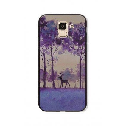 Zadný pevný kryt GLASS na Samsung J6 Deer