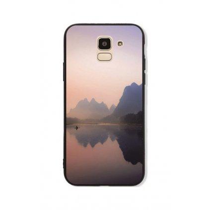 Zadný pevný kryt GLASS na Samsung J6 Lake