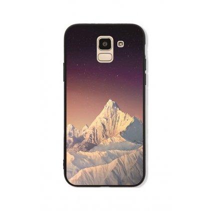 Zadný pevný kryt GLASS na Samsung J6 White Mountains