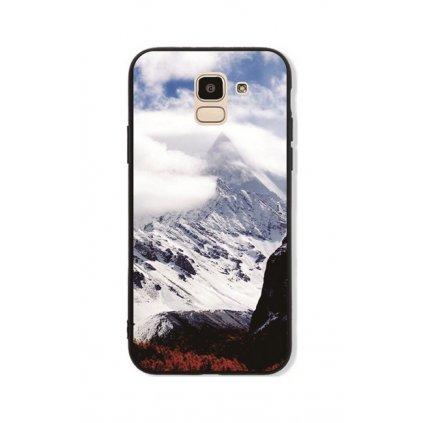 Zadný pevný kryt GLASS na Samsung J6 Mountains