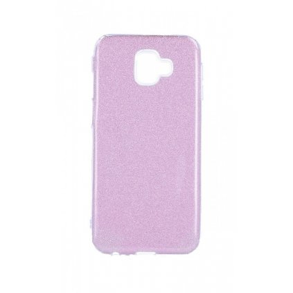 Zadný silikónový kryt na Samsung J6 + glitter ružový