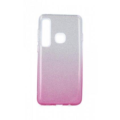Zadný silikónový kryt na Samsung A9 glitter strieborno-ružový