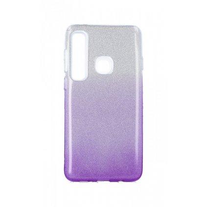 Zadný silikónový kryt na Samsung A9 glitter strieborno-fialový