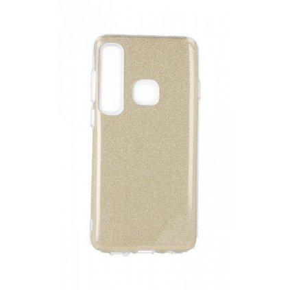 Zadný silikónový kryt na Samsung A9 glitter zlatý