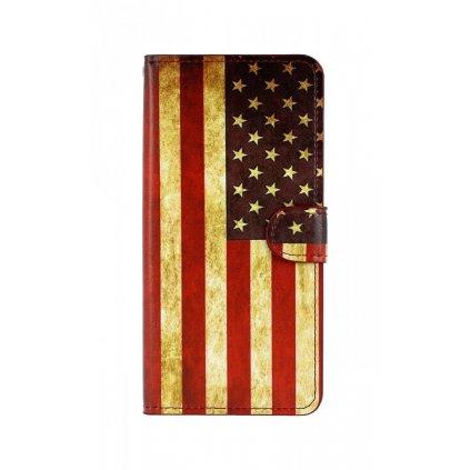 Flipové puzdro na Samsung J4 + Amerika